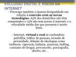 exclus o digital e riscos da internet