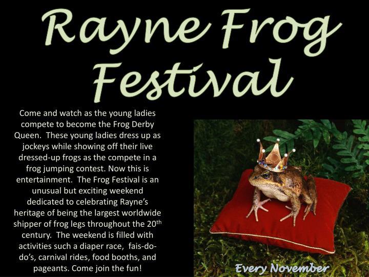 Rayne Frog Festival