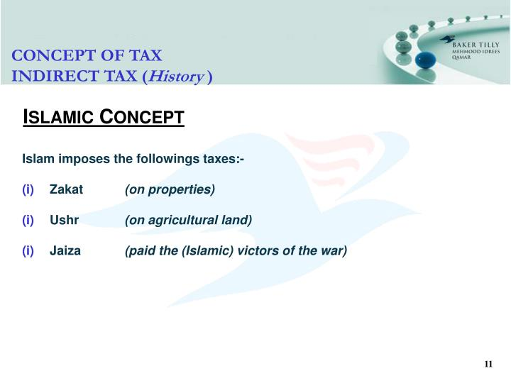 CONCEPT OF TAX