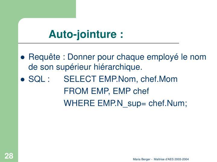 Auto-jointure :