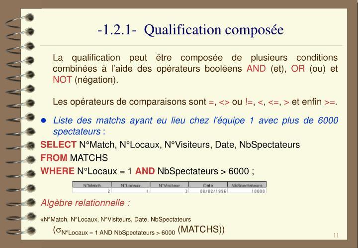 -1.2.1-  Qualification composée