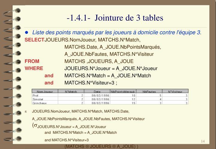 -1.4.1-  Jointure de 3 tables