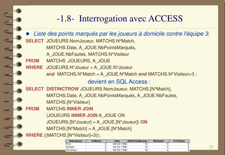 -1.8-  Interrogation avec ACCESS