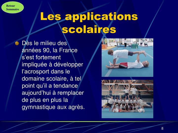 Les applications scolaires