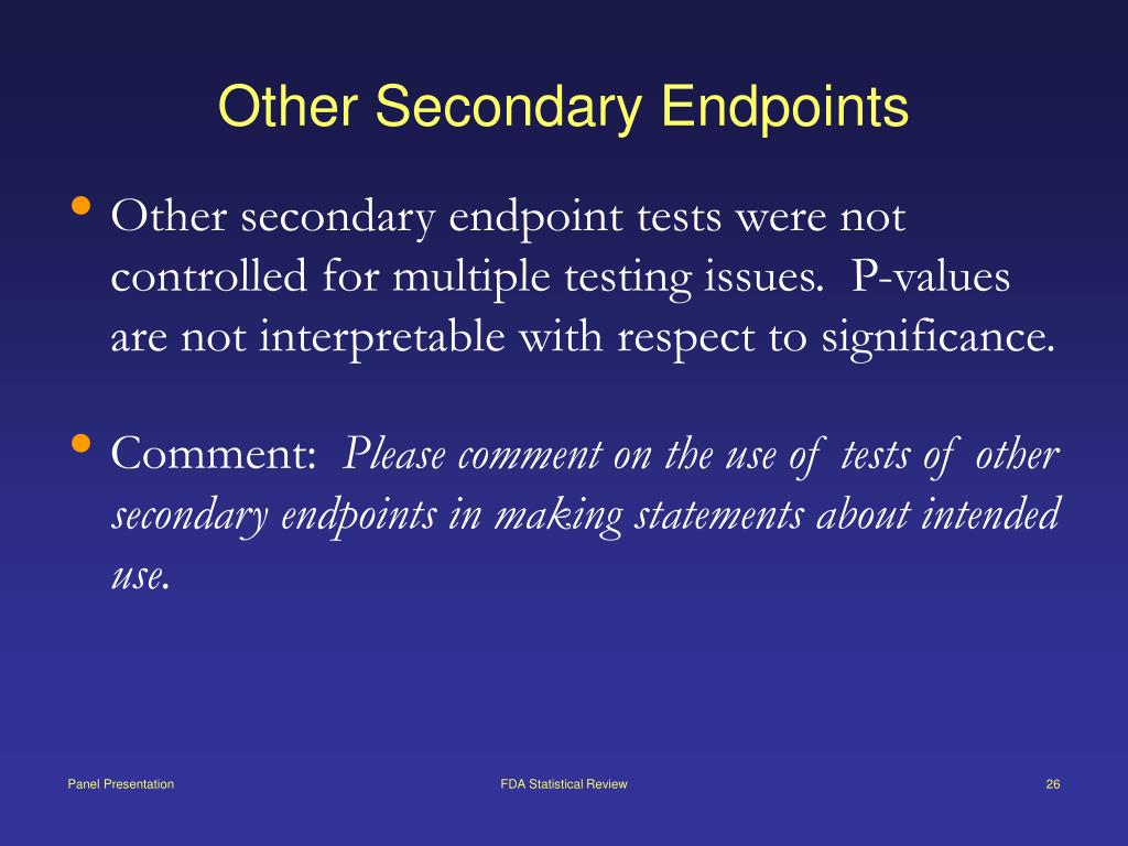 Other Secondary Endpoints