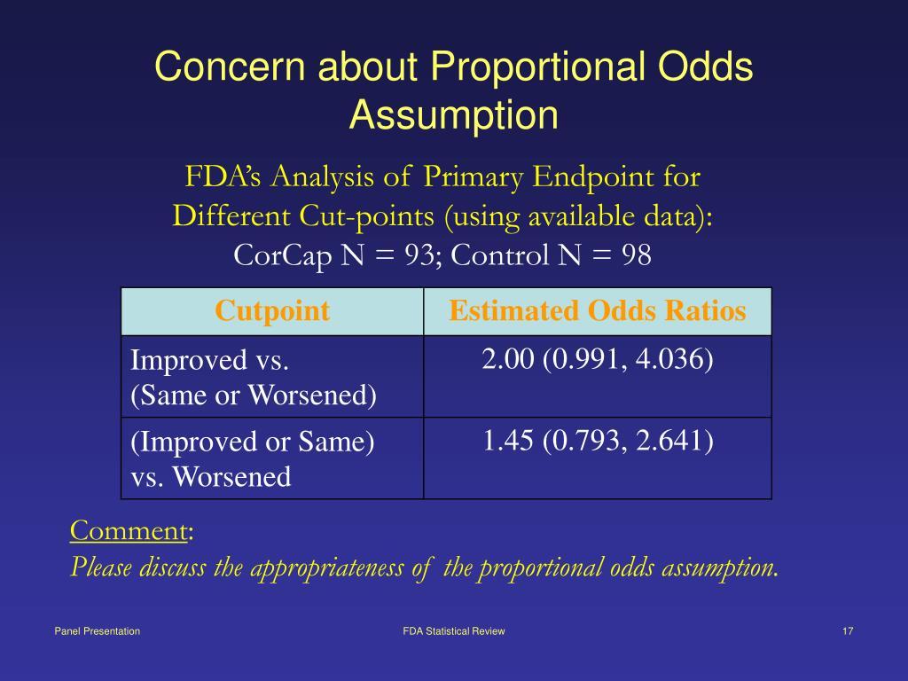 Concern about Proportional Odds Assumption