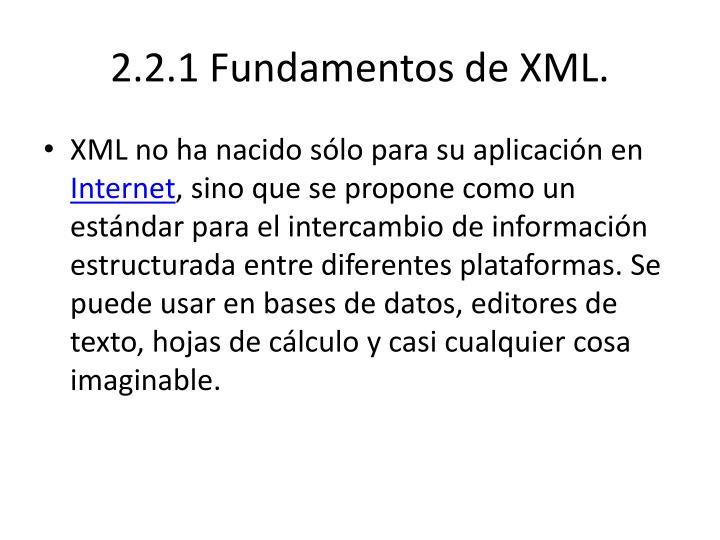 2.2.1 Fundamentos de XML.