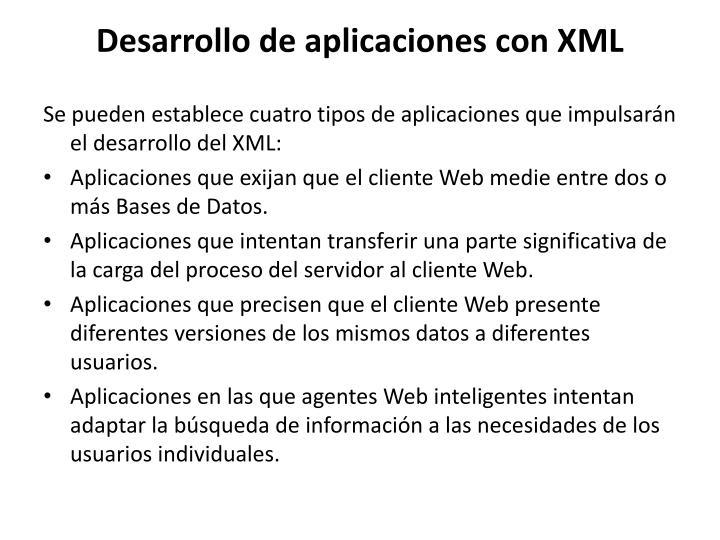 Desarrollo de aplicaciones con XML