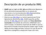 descripci n de un producto xml