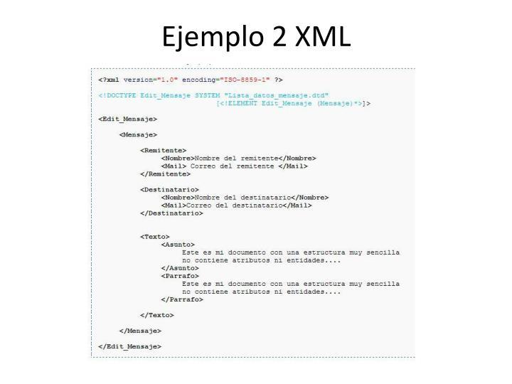 Ejemplo 2 XML