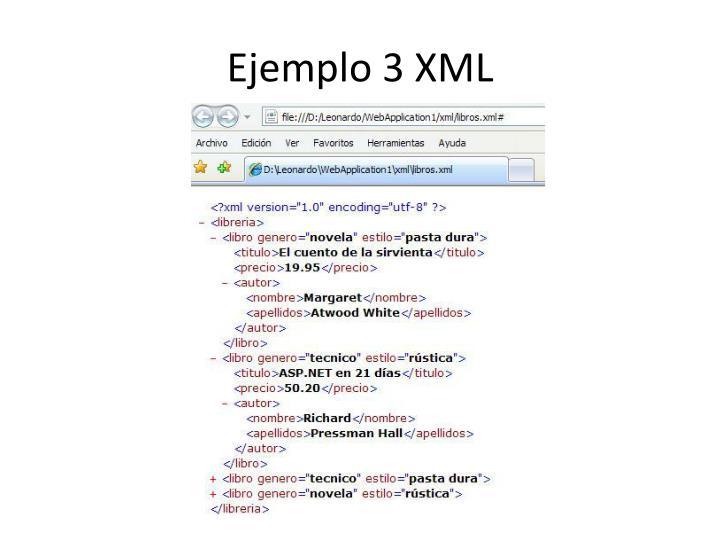 Ejemplo 3 XML