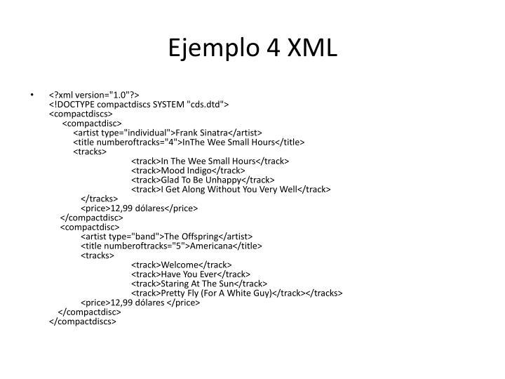 Ejemplo 4 XML
