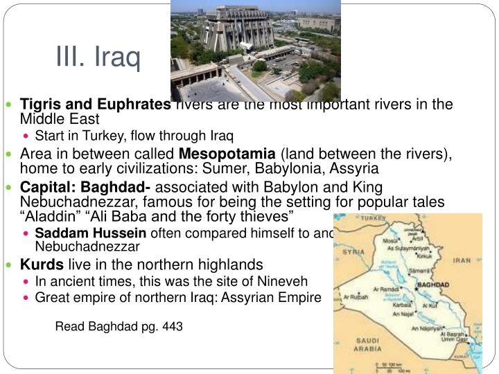 III. Iraq