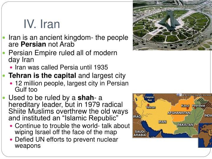 IV. Iran