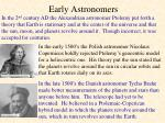 early astronomers