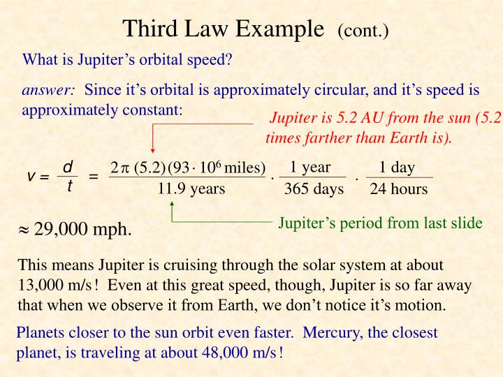 Third Law Example