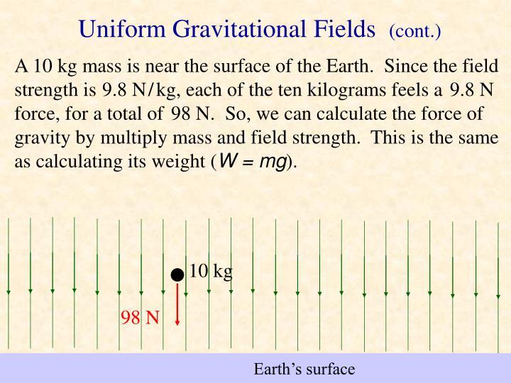 Uniform Gravitational Fields