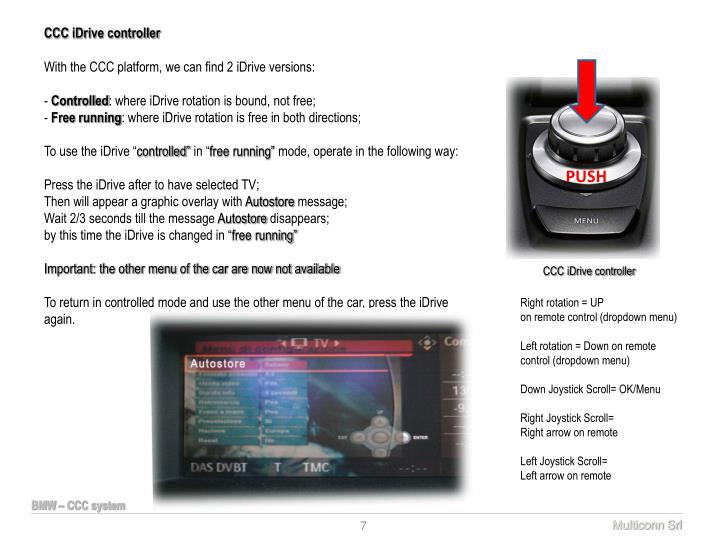 CCC iDrive controller