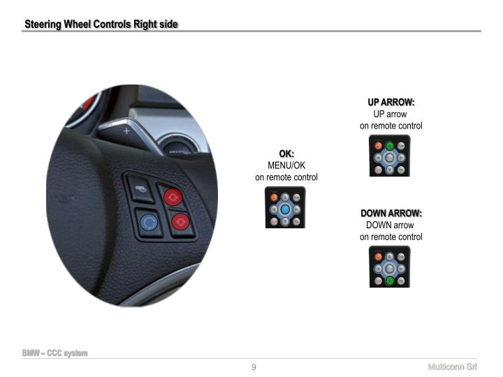 Steering Wheel Controls Right side