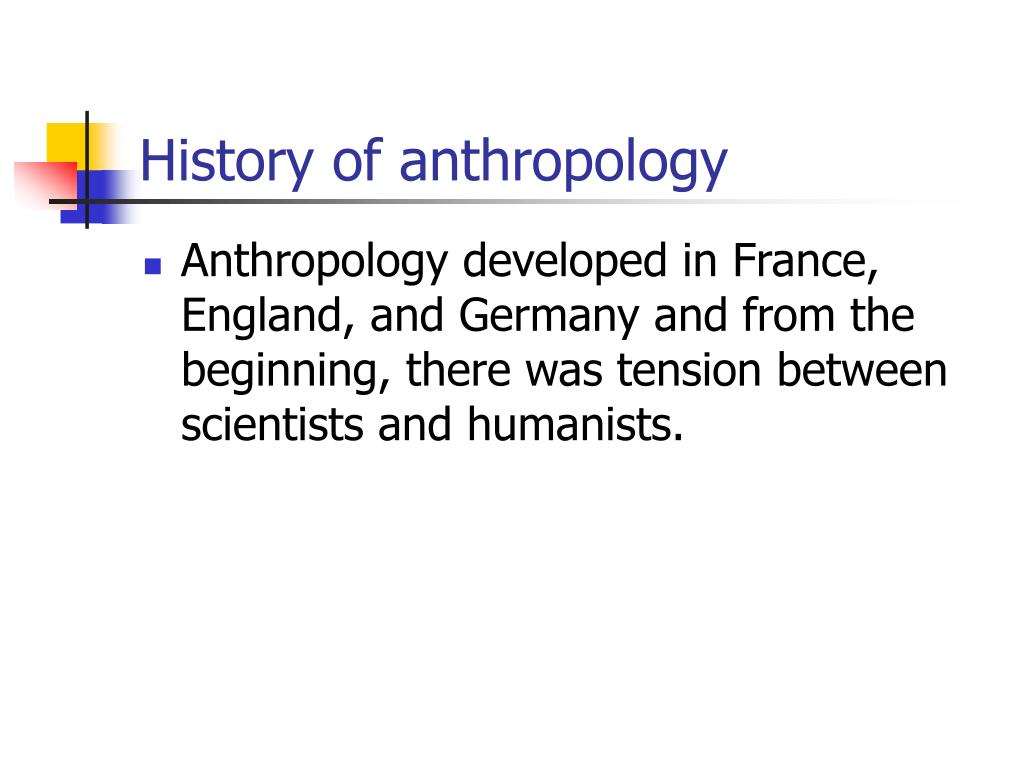 History of anthropology