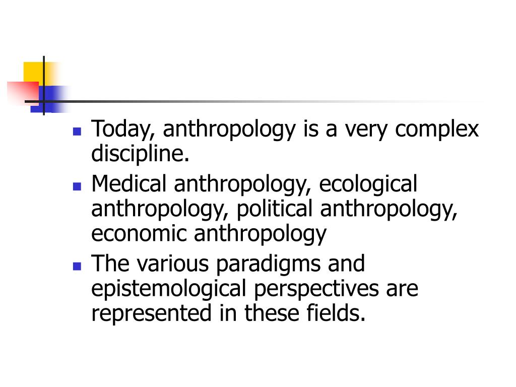 Today, anthropology is a very complex discipline.