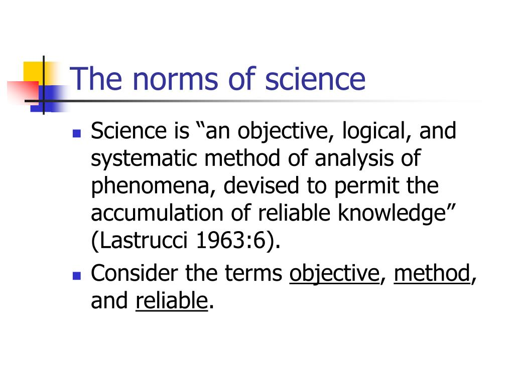 The norms of science
