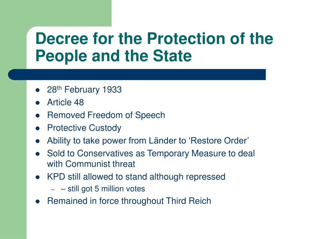 Decree for the Protection of the People and the State
