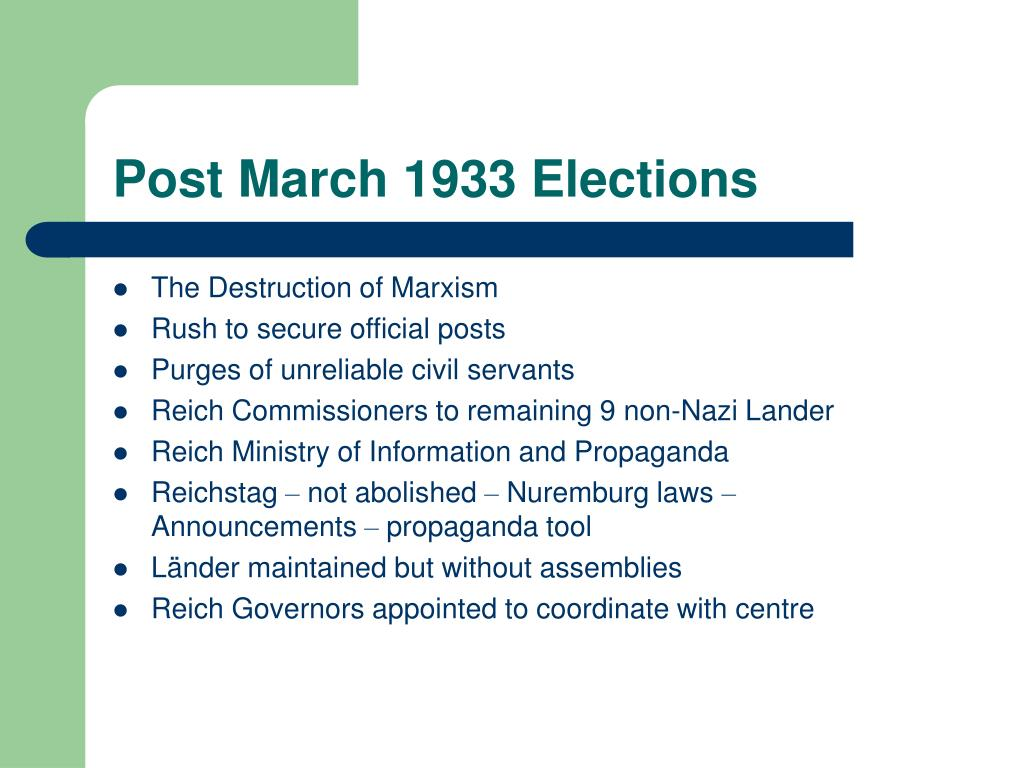 Post March 1933 Elections