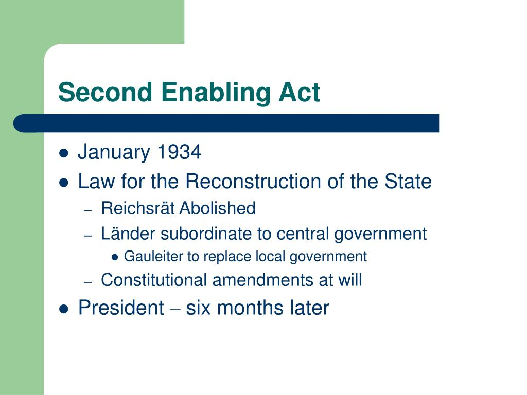 Second Enabling Act
