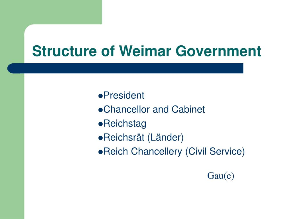 Structure of Weimar Government