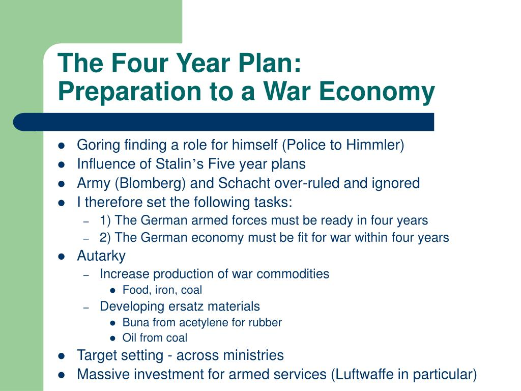 The Four Year Plan: