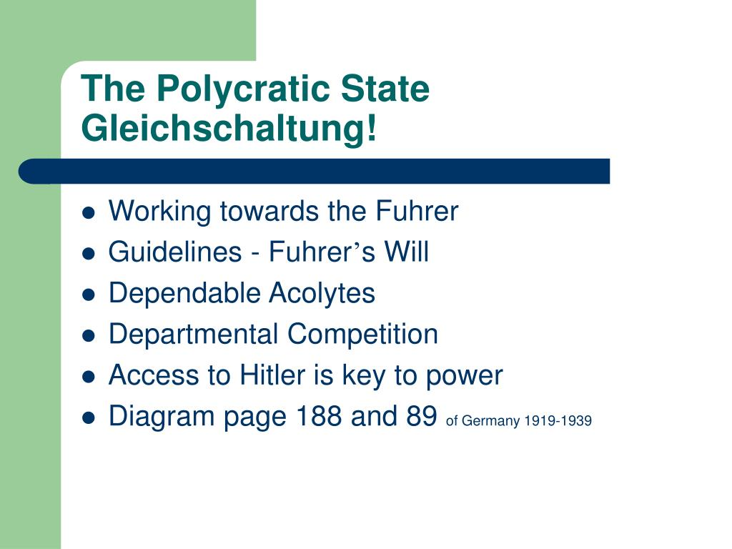 The Polycratic State