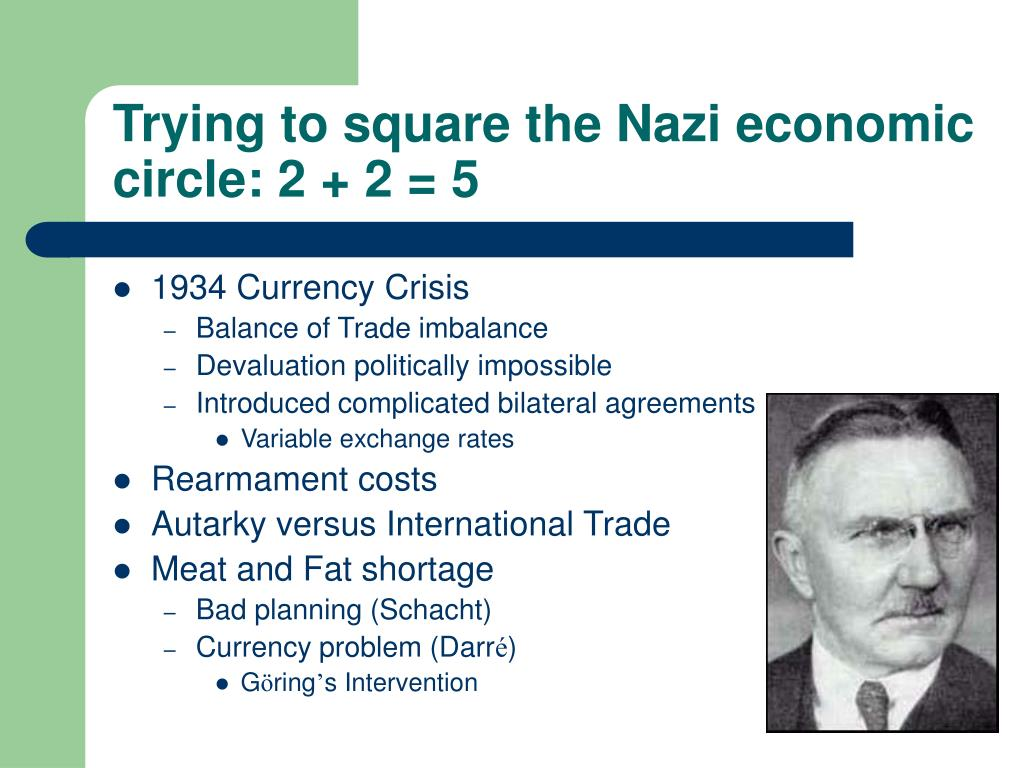 Trying to square the Nazi economic circle: 2 + 2 = 5