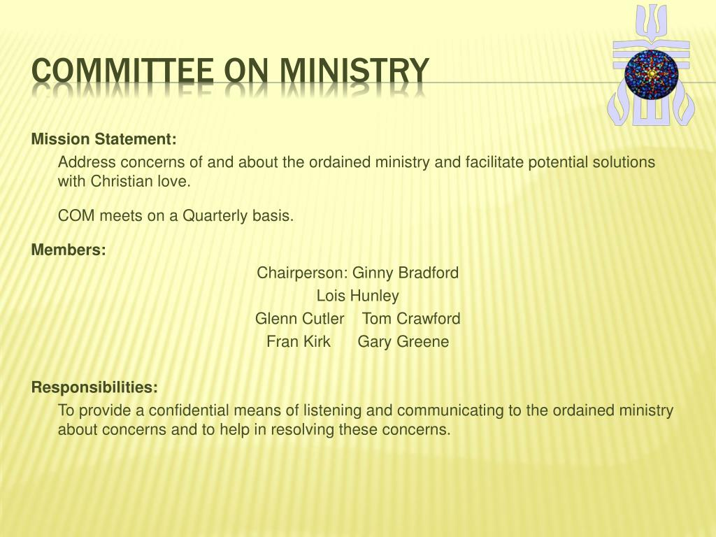 Committee on ministry