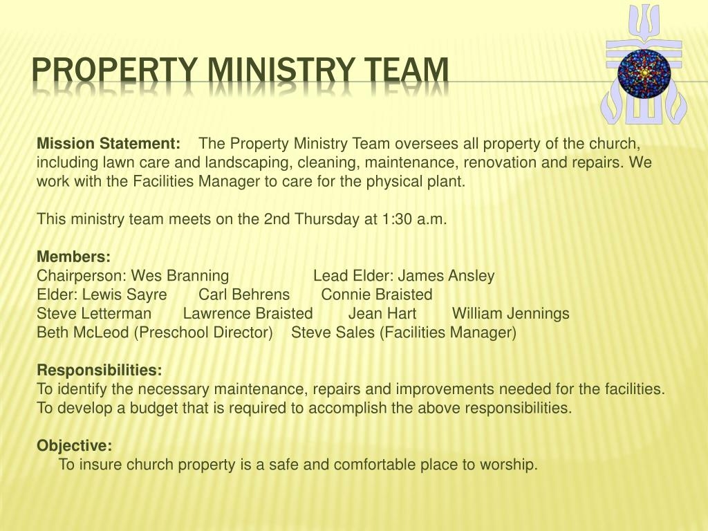 Property Ministry Team