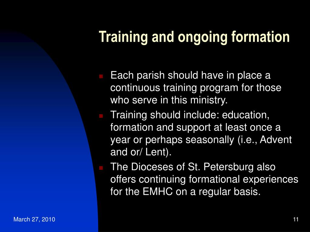 Training and ongoing formation