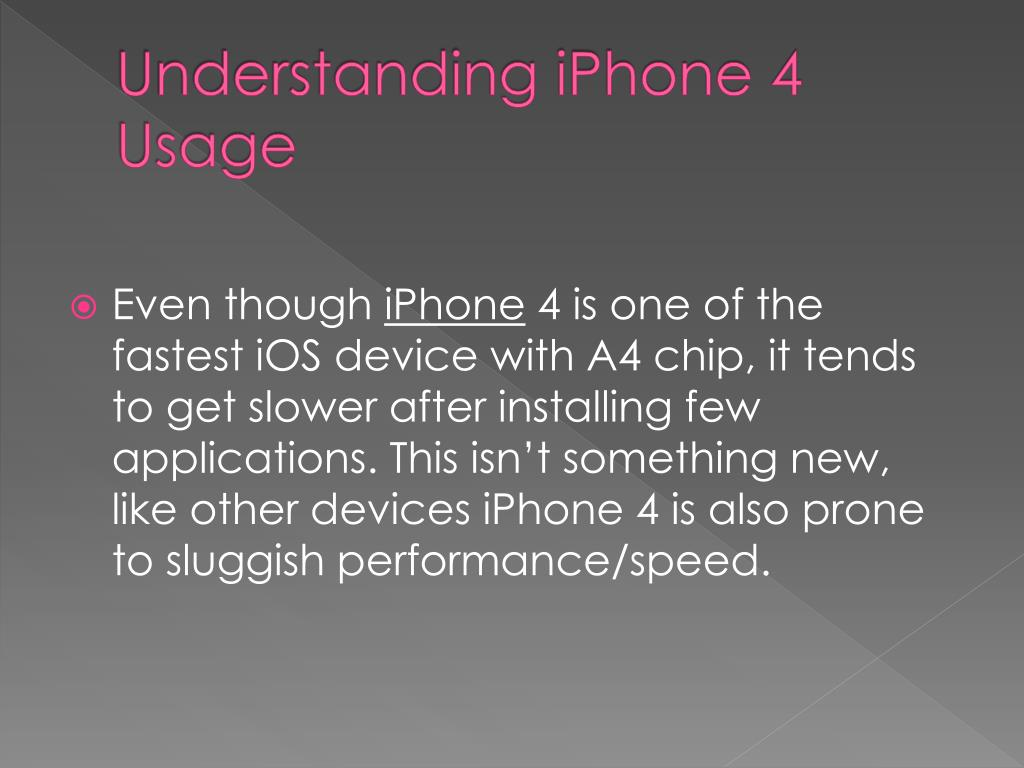 Understanding iPhone 4 Usage