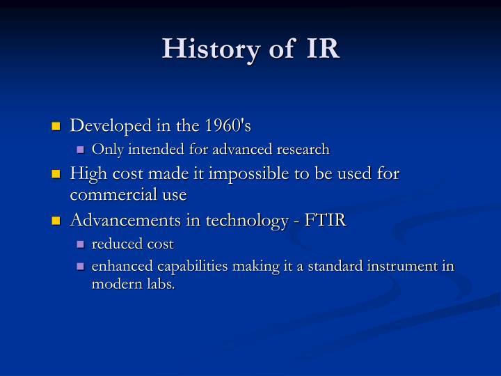 History of IR
