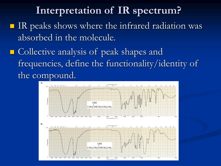 Interpretation of IR spectrum?