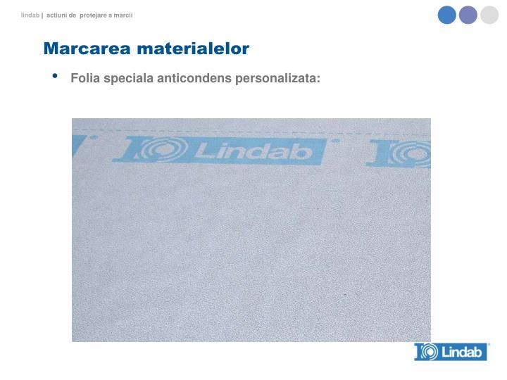 Marcarea materialelor