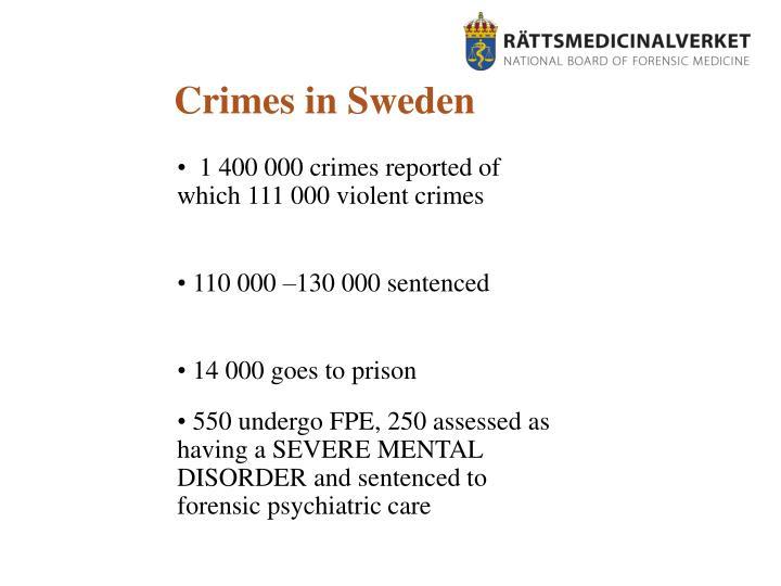 Crimes in Sweden