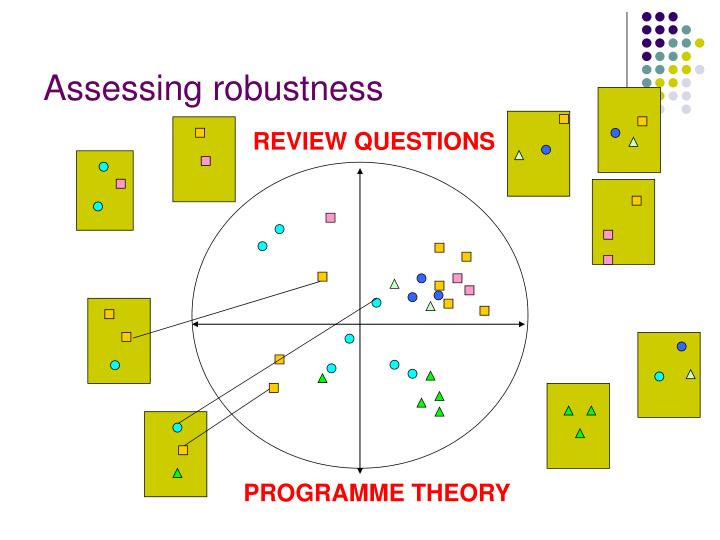 Assessing robustness