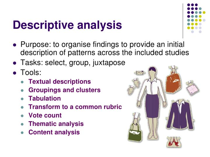 Descriptive analysis