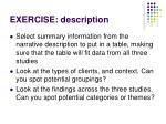 exercise description