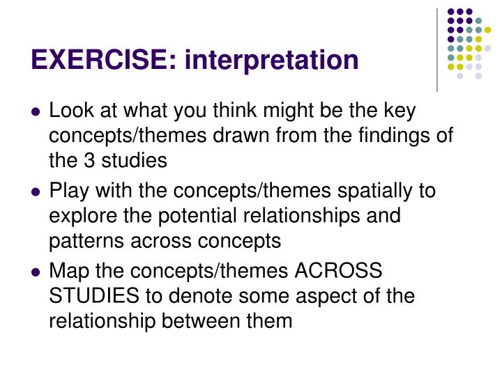 EXERCISE: interpretation