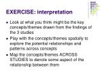 exercise interpretation