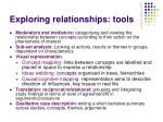 exploring relationships tools