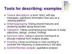 tools for describing examples