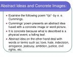 abstract ideas and concrete images