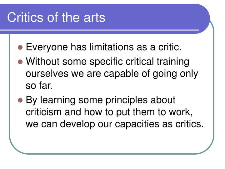 Critics of the arts